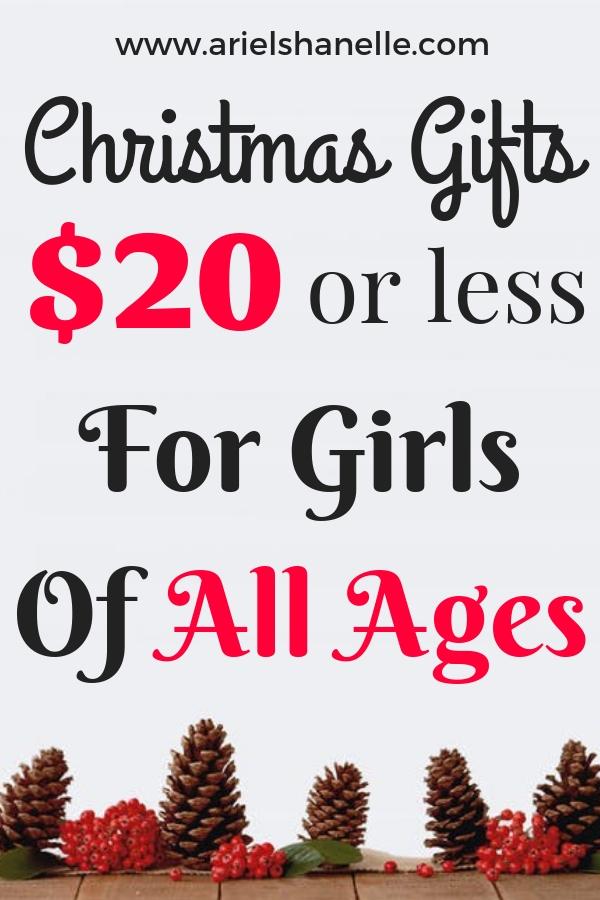 Christmas gift ideas for girls under $20.