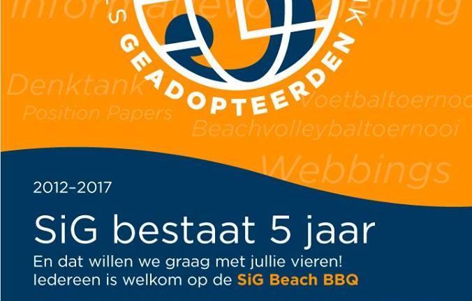 SiG Beach BBQ – zaterdag 8 juli 2017