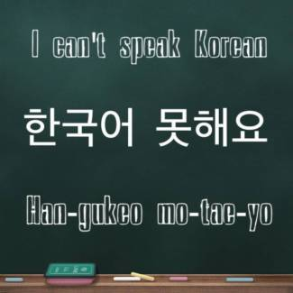 I can't speak Korean