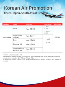 20190127 Korean Air Promotion