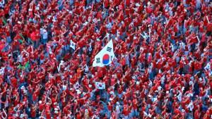 Voetbalwedstrijd Koreaanse Gemeenschap
