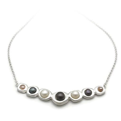 Fine Silver Pearl Necklace
