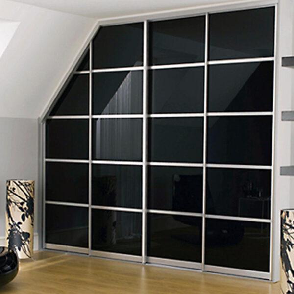 Aries Closet Door Black CSD 25 Acrylic And Mdf