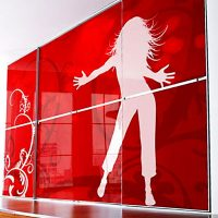 Aries Closet Door Red CSD 36. (Acrylic and Mdf) - Aries ...