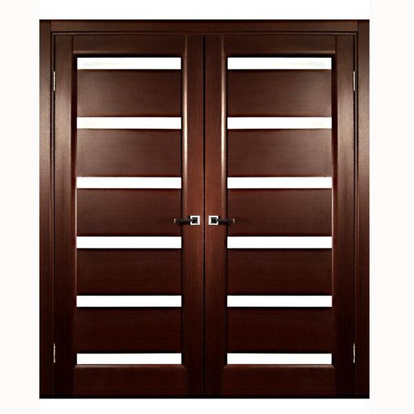 Aries Modern Interior Double Door with Glass (MDF