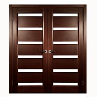 Aries Modern Interior Double Door with Glass (MDF