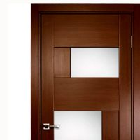 Aries Modern Interior Door with Glass Panels