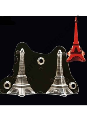 Cake Decor Polycarbonate 3D Eiffel Tower Chocolate Mold Cake Decorating Chocolate Mould Tools