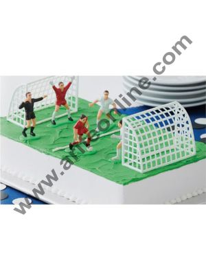Cake Decor Football / Soccer Cake Topper Set of 6, Multi-color