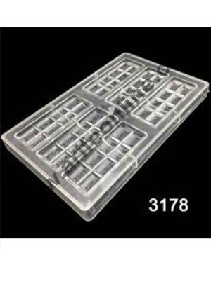 Cake Decor One Piece New Arrival 6x2Lines Chocolate Bar Mold