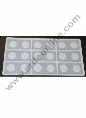 Cake Decor Silicon 9 in 1 Rectangle with Circle Shape Chocolate Garnishing Mould Cake Insert Decoration Mould