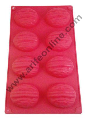 Cake Decor Silicon 8 in 1 Wallnut Shape Muffin Cupcake Mould