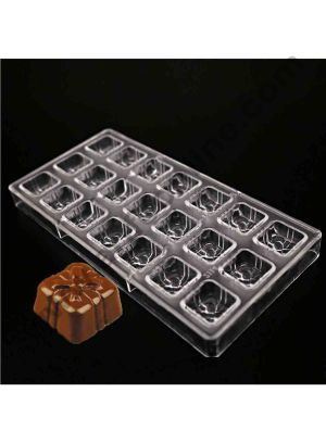 Cake Decor 24 Cavity Valentine Day Gift Box Shape Polycarbonate Chocolate Mould