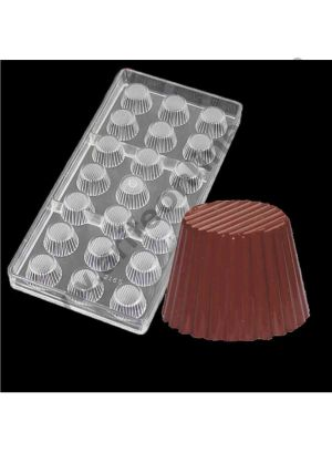 Cake Decor 21 Cavity New Small Muffin Tart Shape Chocolate Mold, Cake Sweet Candy Confectionery Making Tools Baking Polycarbonate Chocolate