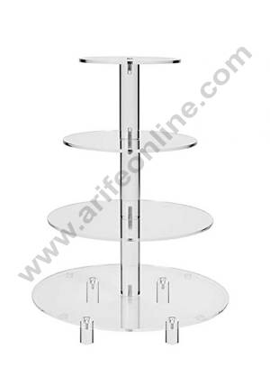 4 Tier Acrylic Cup Cake Display Stand Round