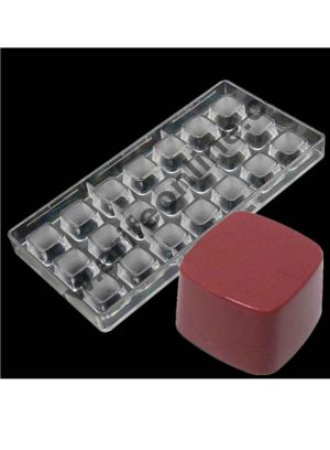 Cake Decor 21 Cavity Polycarbonate Curvy Square Chocolate Mould