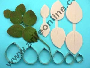 Cake Decor 6 Pcs Rose Leaf Cutter Set Bakeware Mould Biscuit Mould Set Sugar Arts Fondant Cake Decoration Tools