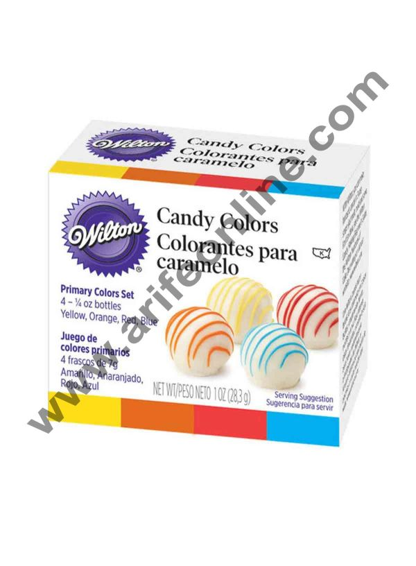 Wilton Primary Candy Color Set of 4 1