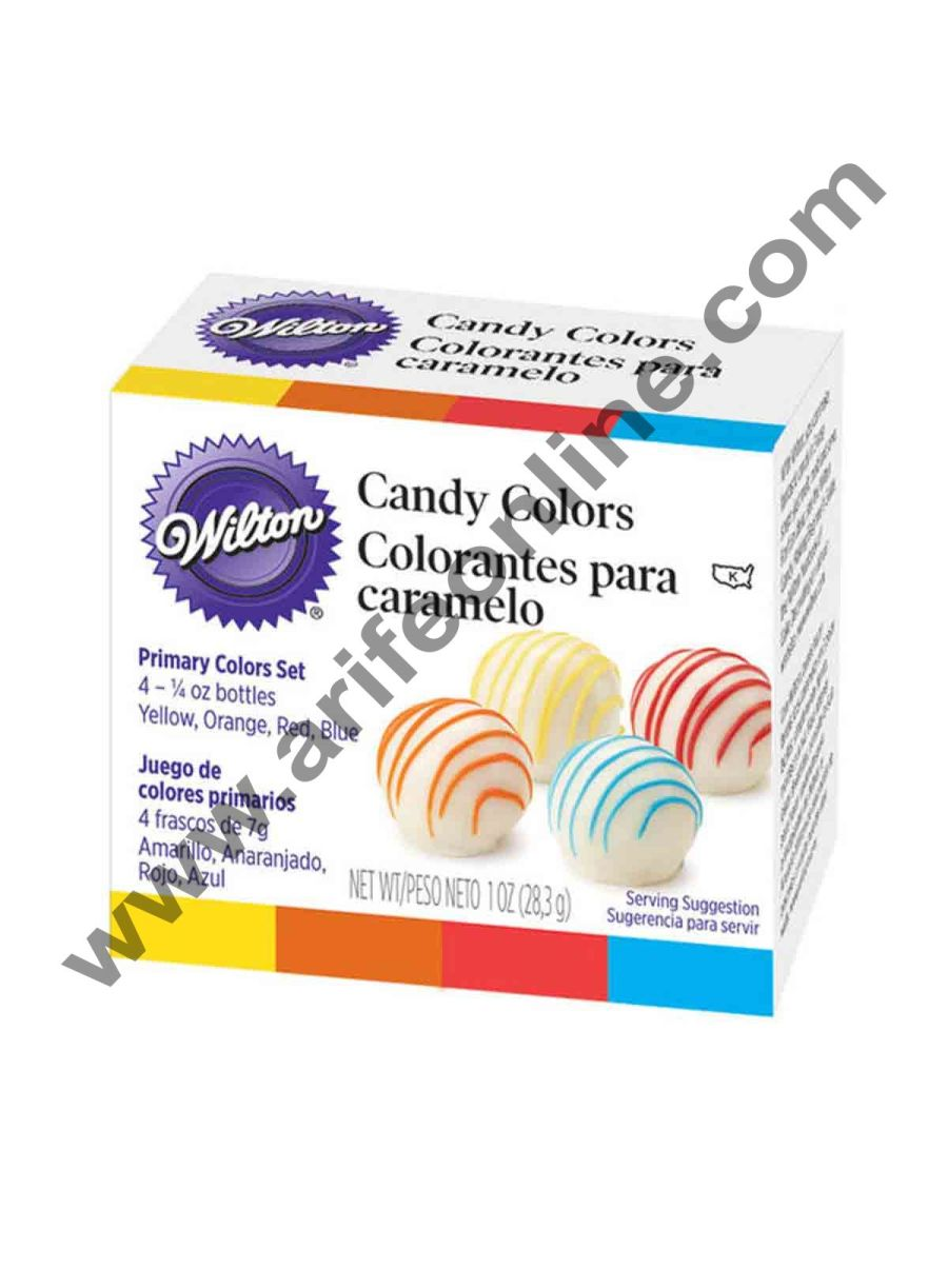 Wilton Primary Candy Color Set of 4