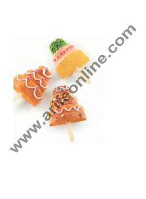 Cake Decor White Classic Silicon Cakesicle Mould Ice Cream Pops, Wedding Cake Shape Mould