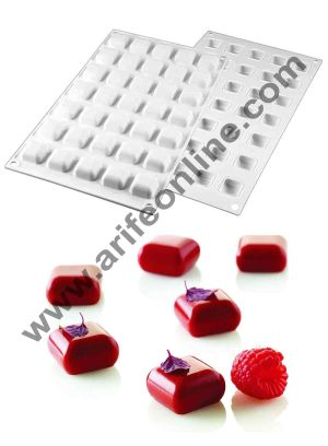Cake Decor Silicon Micro Rounded Square Gem Design Cake Mould Mousse Cake Mould Silicon Moulds