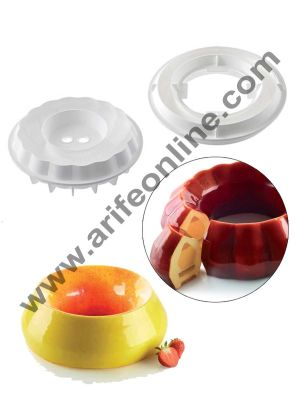 Cake Decor Silicon Kit Flame Design Cake Mould Mousse Cake Mould Silicon Moulds