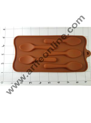 Cake Decor 5 in 1 Silicon Spoon Shape Ice Mould Cupcake Moulds Muffin Mould Chocolate Mould