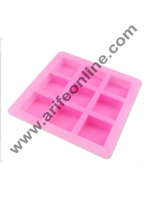Cake Decor 9 in 1 square silicone mold, fondant cake, chocolate, handmade soap mold, bakeware, pudding mold, jelly mold