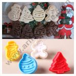 Cake Decor 4 Pc Christmas GingerBread Plastic Biscuit Cutter Plunger Cutter 1