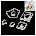 Cake Decor 8 Pc Christmas House Theme Plastic Fondant Cutter Gumpaste Cutter