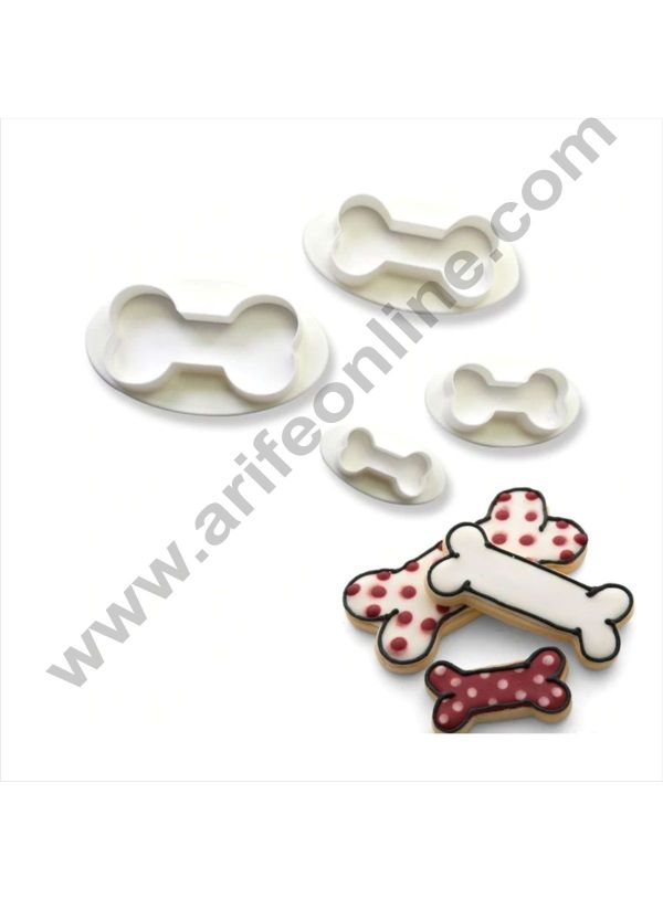 Cake Decor 4 Pc Dog Bone Plastic Fondant Cutter Gumpaste Cutter 1