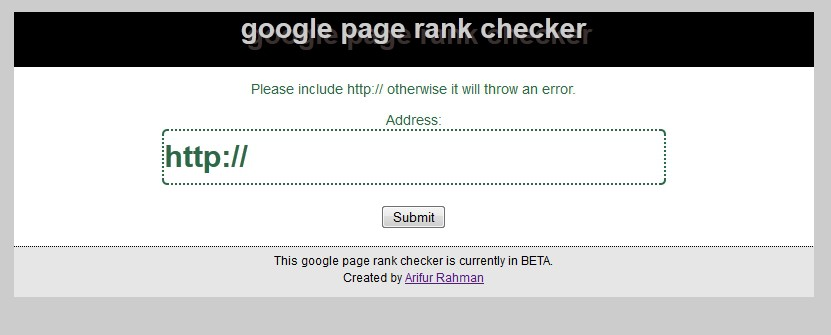 Google-Page-Rank-Checker