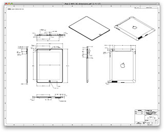 iPad 2のケース制作者向け寸法図面PDF公開