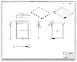 新しいiPadのケース制作者向け寸法図面PDF公開