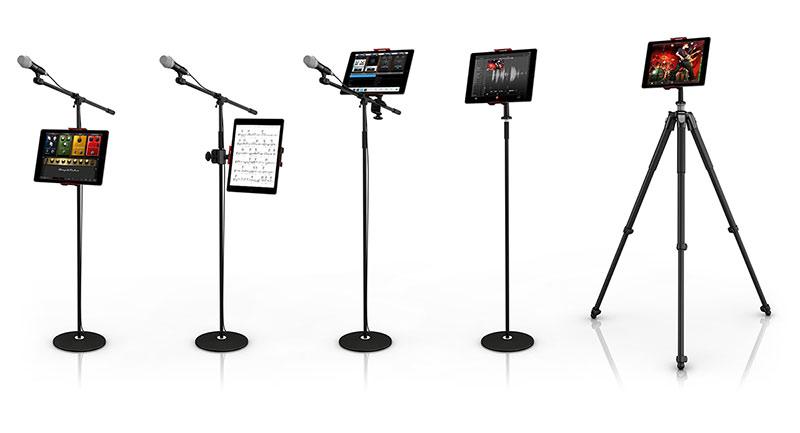 【新製品】iPadをマイクスタンドに取り付けられるアダプタ「IK Multimedia iKlip 3」。カメラ三脚