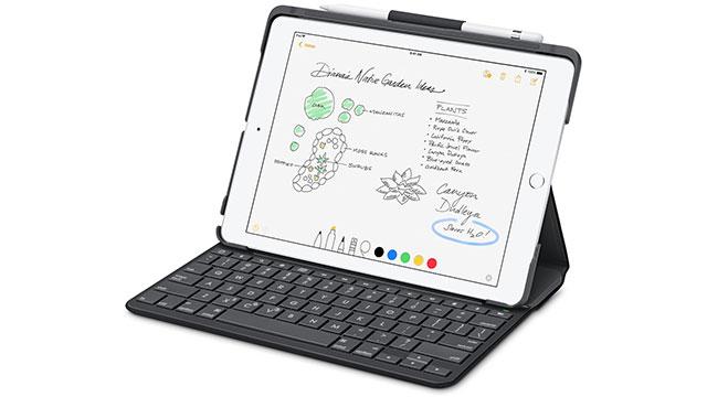 【新製品】第5/第6世代iPad用の、Apple Pencilも収納できるBluetoothキーボード搭載ケース