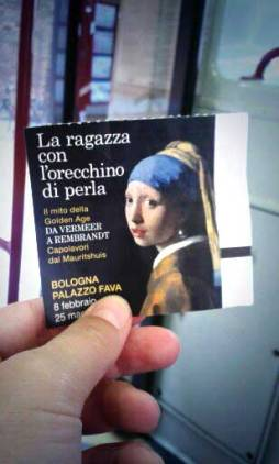 My ticket to see the girl with the pearl earring