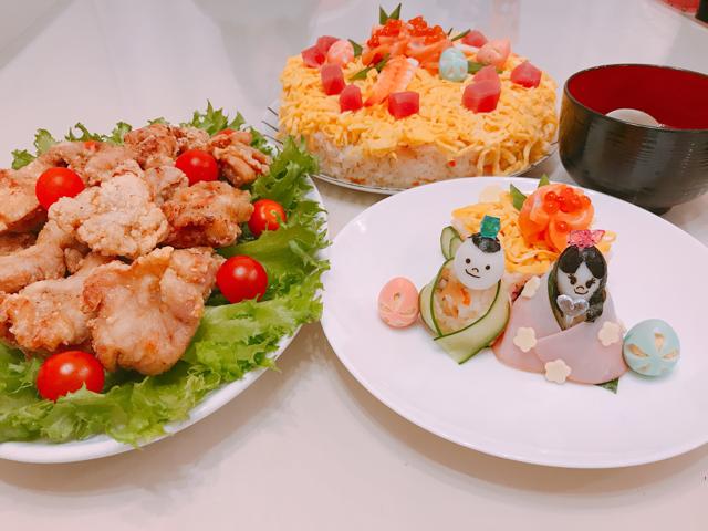 🍱お弁当の日。<br>キャラ弁です🌟<br>ひな祭りMENUまとめ🎵