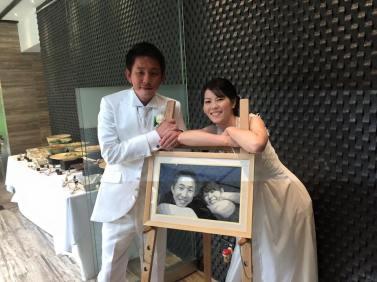"""Ayu and Kei Wedding Portrait - 11""""x17"""""""