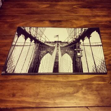 "Brooklyn Bridge - 11"" x 17"""