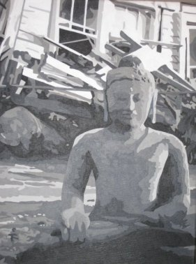 "Buddha after Katrina - 16"" x 24"""