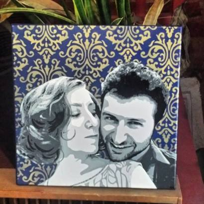 "Wedding Portrait Commission 12""x12"""