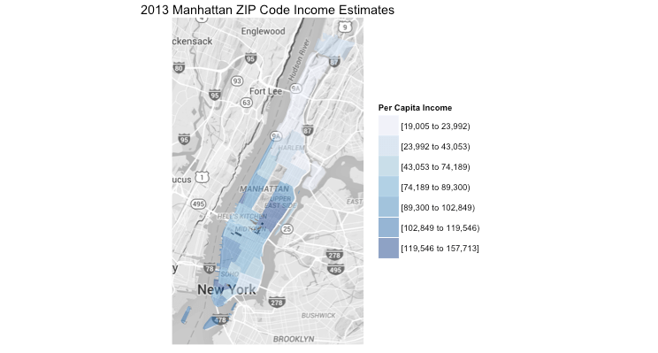 Zip Code Map Manhattan on
