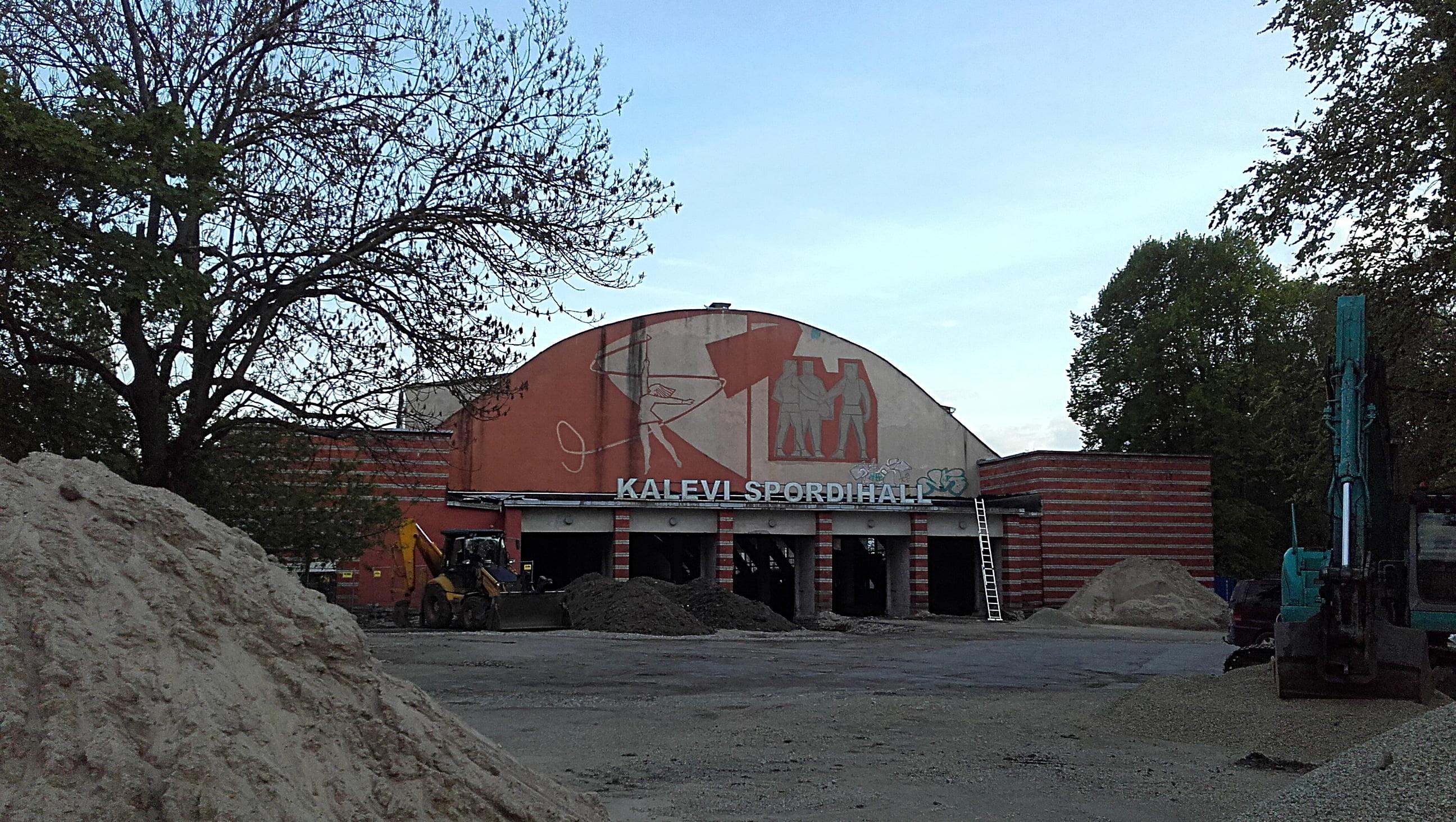 Kalevi sportshall in Tallinn, Estonia under renovation. Seen during my travel day one.