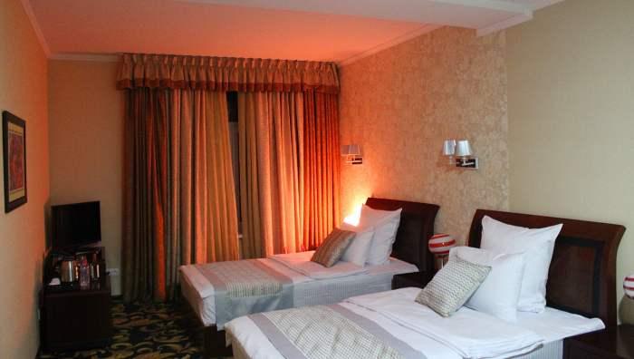 Solo travel Moldova. A quality hotel room in Chisinau, Moldova. Not many tourists are visiting Moldova.