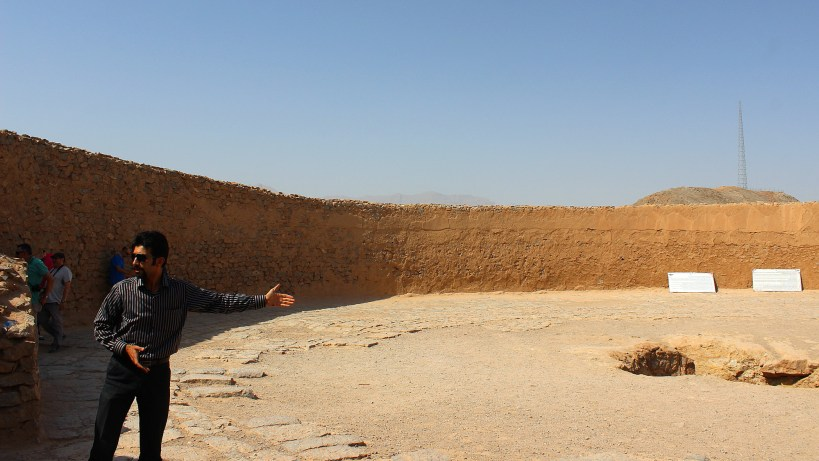 A Zoroastrian Tower of Silence used for burial in Iran.