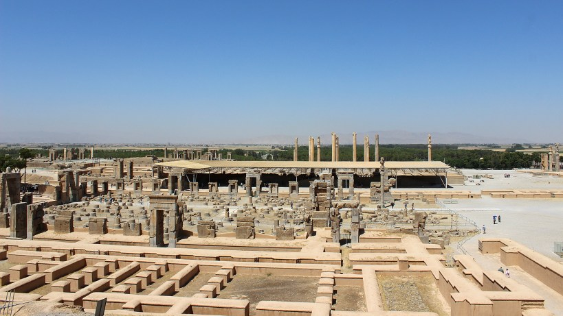 An overview of the ruins of Persepolis.