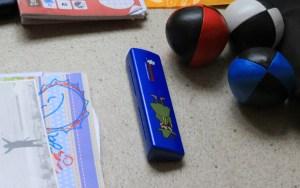 A Moomin Snufkin toy harmonica.