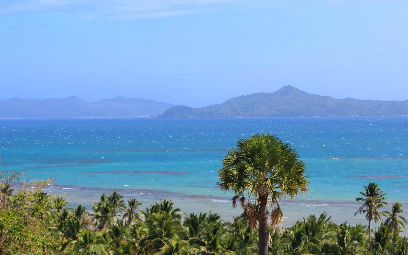 A view to the ocean from Erlittop Garden Resort, El Nido, Palawan, Philippines