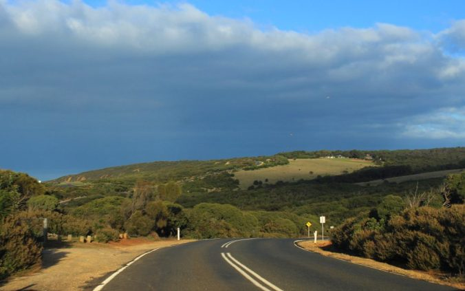On a 1-day Great Ocean Road self-drive from Melbourne.